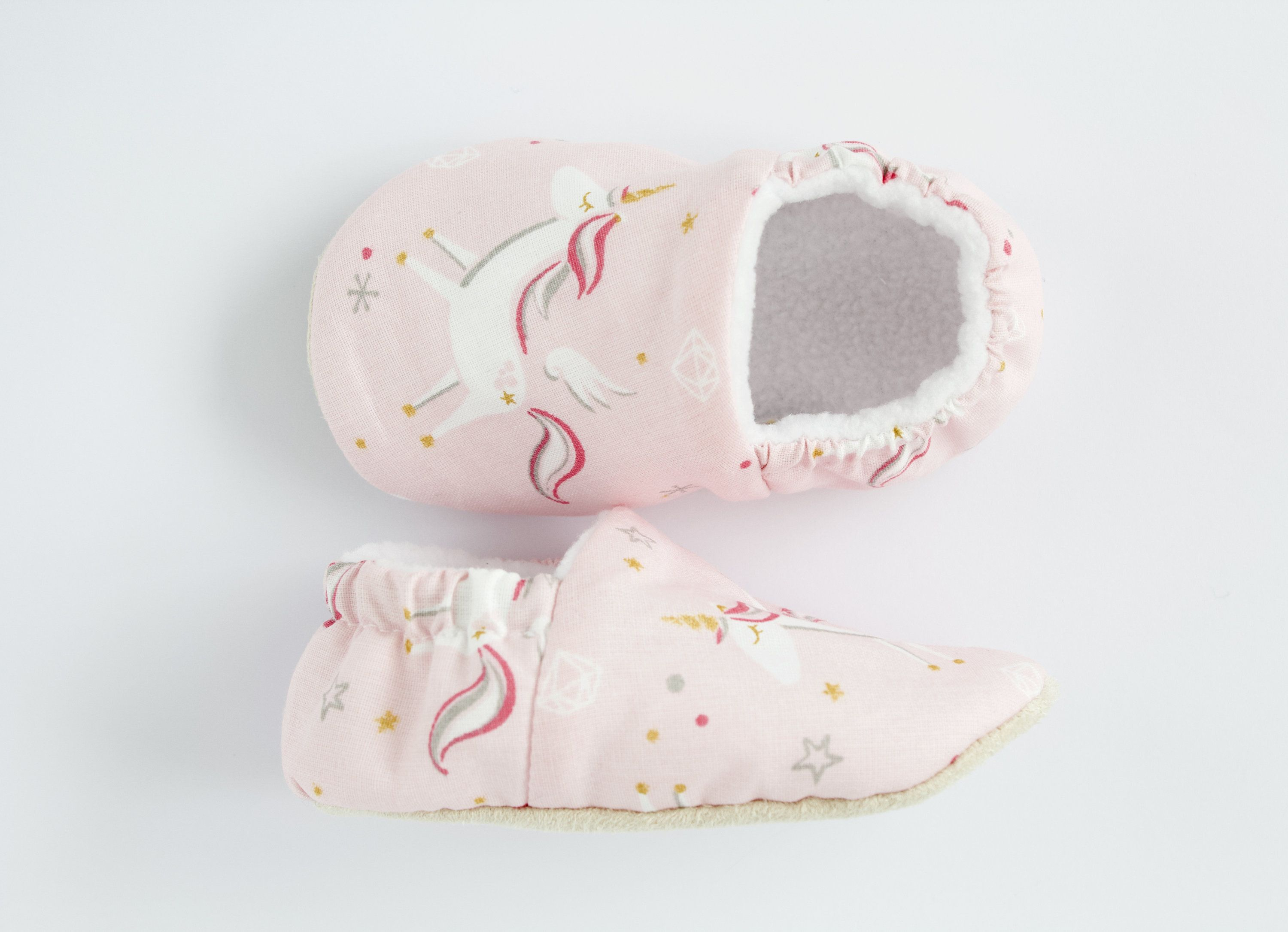 Pink cotton unicorn baby girl shoes pre walkers and toddlers