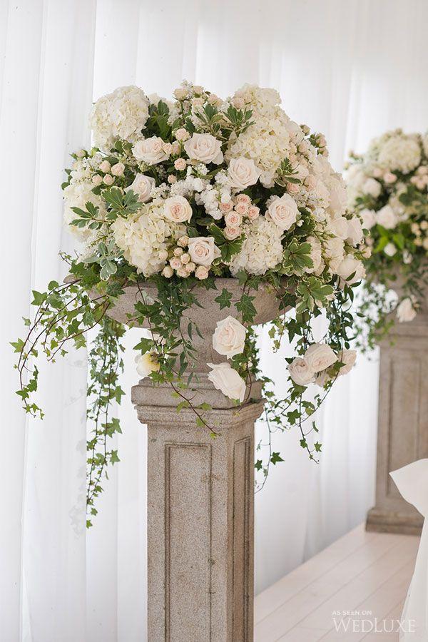 New York Wedding Celebrates Elegance Wedding centerpieces