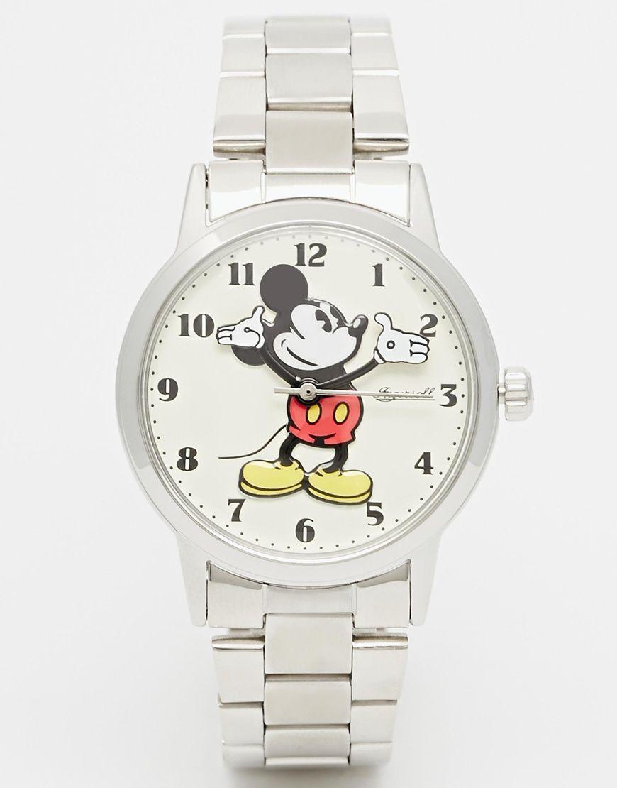 bca9f462220b Imagen 1 de Reloj clásico con diseño de Mickey Mouse en plateado de Disney