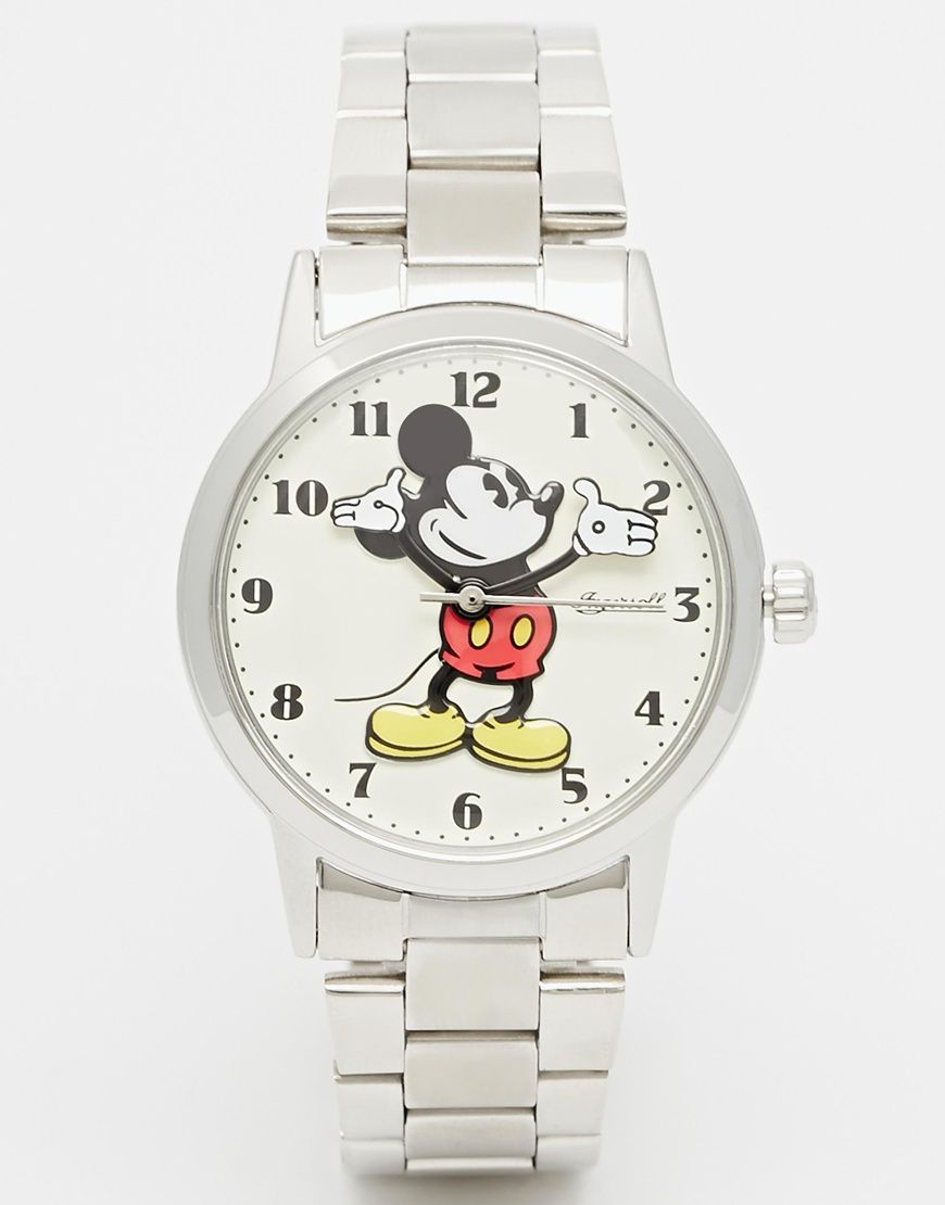 Imagen 1 de Reloj clásico con diseño de Mickey Mouse en plateado de Disney 0e595d625128