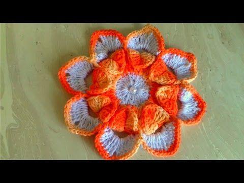 YouTube | Crochet flowers 8. | Pinterest | Siglo 21, Del siglo y Flores