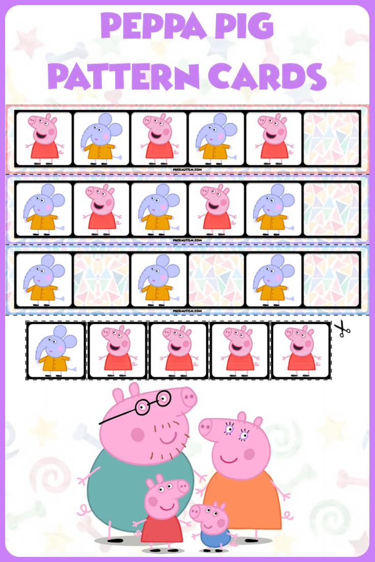 Preschool Peppa Pig Pattern Cards Ab Patterns Preschool Patterns Kindergarten Activities [ 1104 x 736 Pixel ]