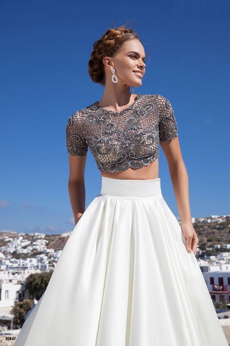 white short sleeve evening dresses