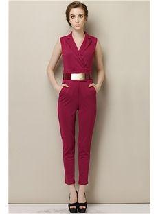 Raspberry Jumpsuit.