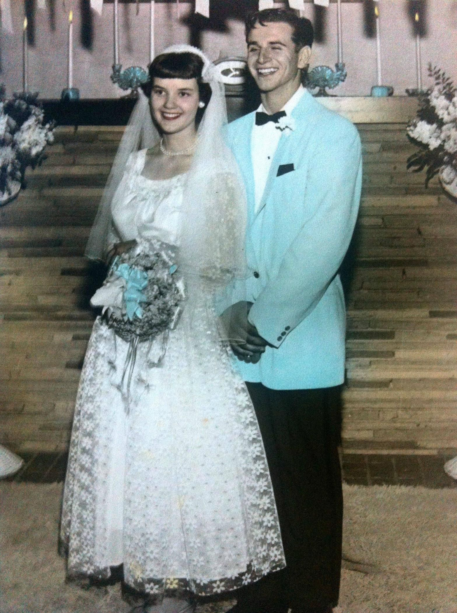 My Grandparents Wedding Picture Colored Wedding Dresses