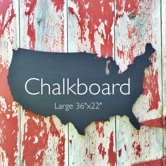 Chalkboard United States Chalkboard Usa Wooden Map Usa Chalkboard