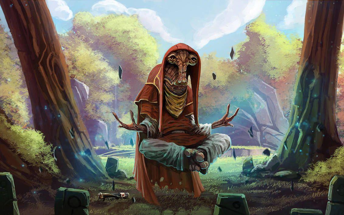Padawan Tarren Meditating On Tython By Master Weilar Tarren Star Wars Characters Pictures Star Wars Images Star Wars Species
