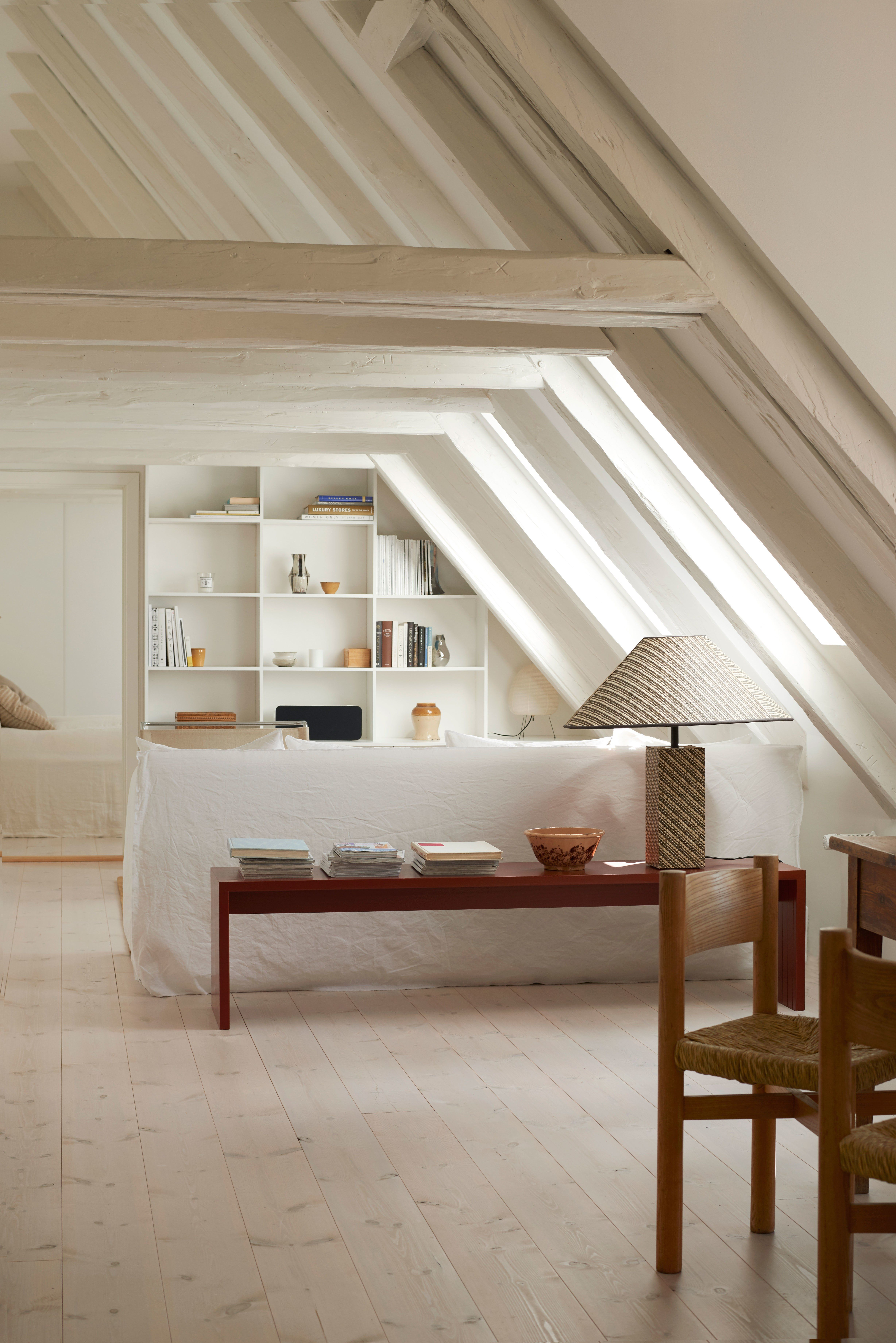 Bedroom interior roof a lightfilled copenhagen apartment with old bones and a youthful spirit