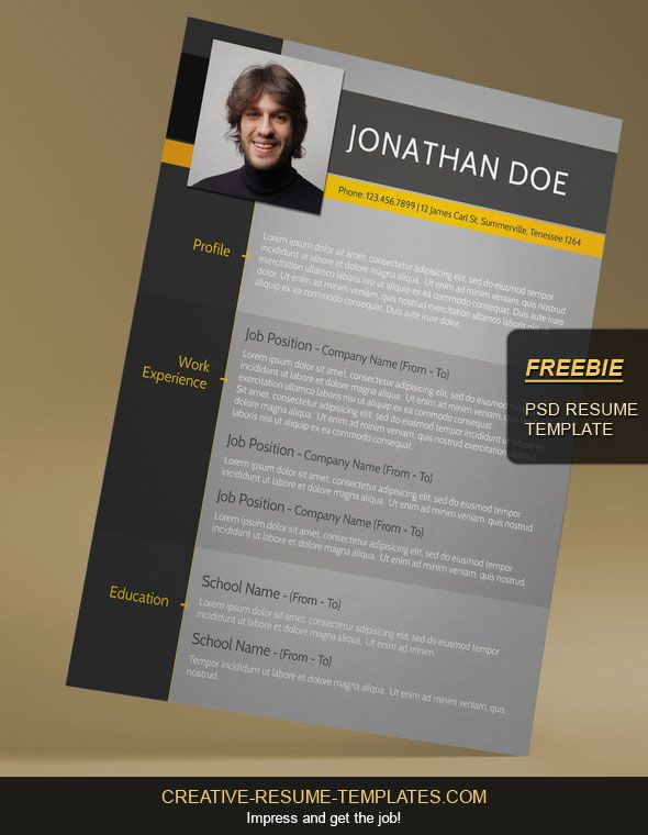 Free Modern CV TemplateCreative Resume Templates Graphics