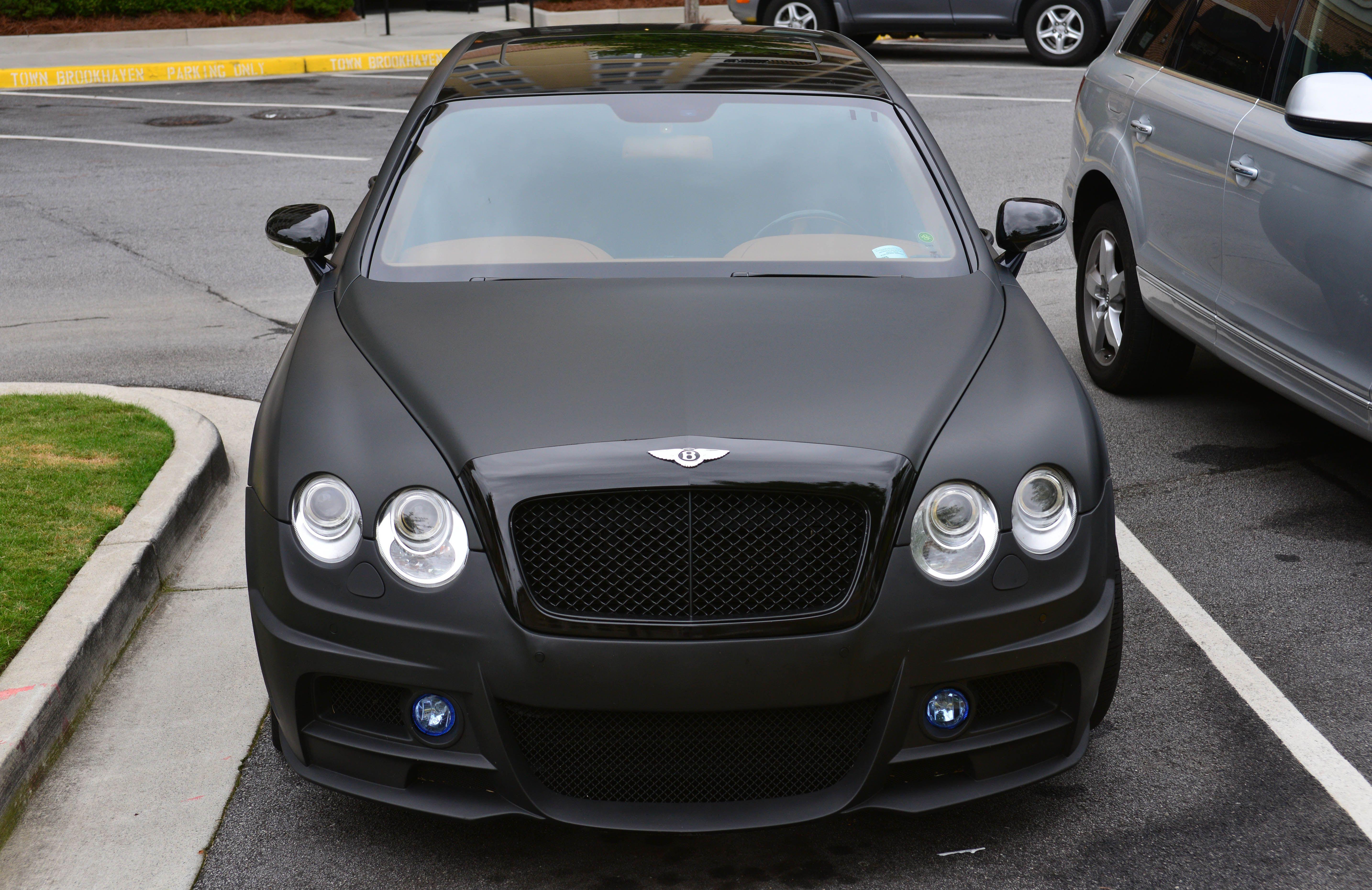 Matte Black Bentley Flying Spur Atlanta Streets Black Bentley Bentley Flying Spur Flying Spur