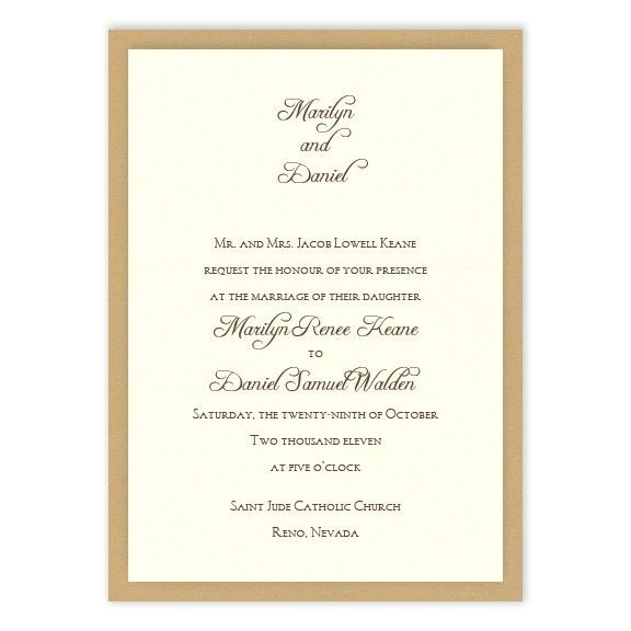 Abbey 2-Layer Wedding Invitations by MyGatsby.com