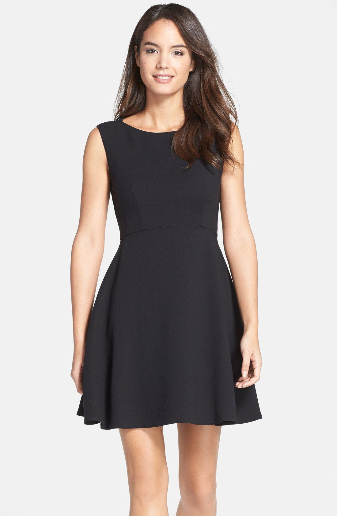 French connection feather ruth fit flare dress