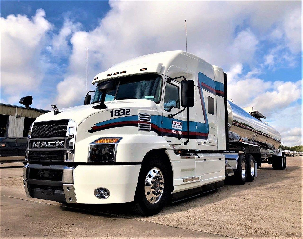 Mack Antham Semi Trailer Milk Tanker Trucks Semi Trucks