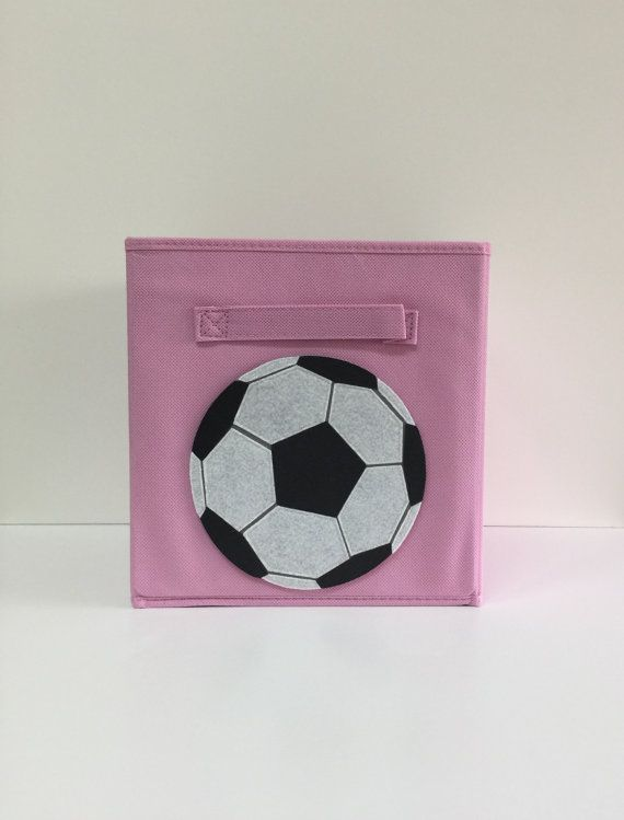 Attrayant Soccer Ball Cube Storage Bin 11 Fabric Cube By SewFreakinAwesome, Kids  Storage, Nursery Décor