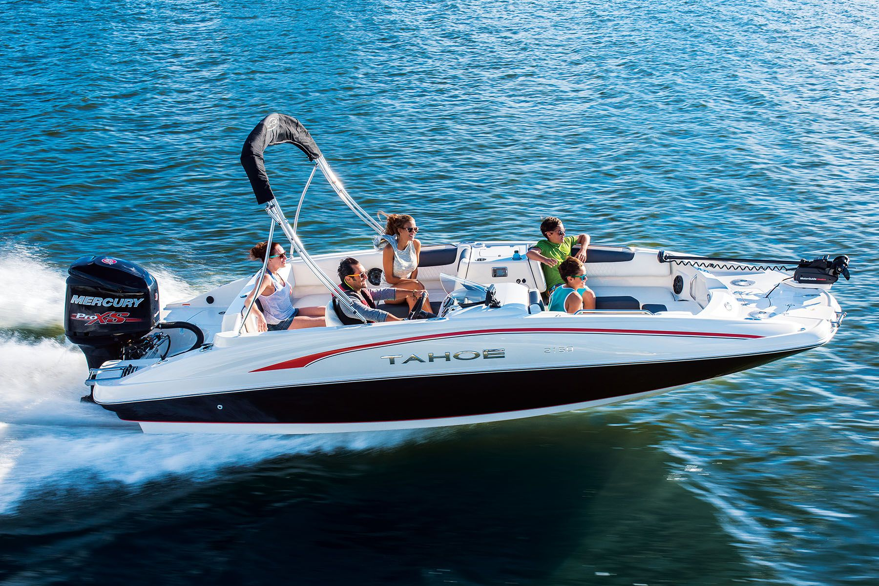 Tahoe 2150 Deck Boat Available through Springfield Tracker