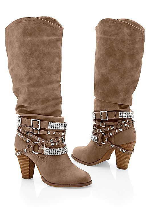 76b55d76e8ce9 We re giving the classic country boot some glamour! Venus studded buckle  boot.