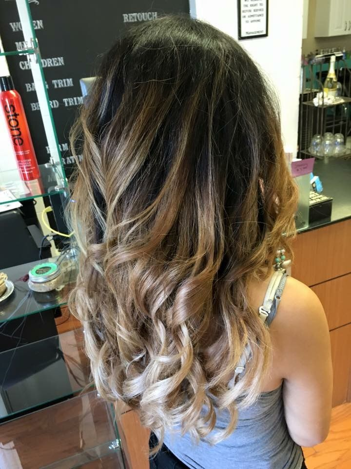 Dark Brown To Caramel To Beige Blonde Colormelt Balayage Ombre By Cheyenne Daniels In Redding Ca Modern Muse Beige Blonde Ombre Balayage Balayage Hair Ombre