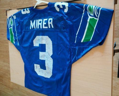 87a7b4e8ac9 Vintage Seattle Seahawks #3 Rick Mirer Nfl Football Wilson Jersey ...