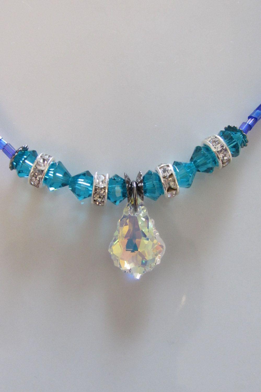 Blue Hyacinth Necklace ~* by AriannesJoy on Etsy