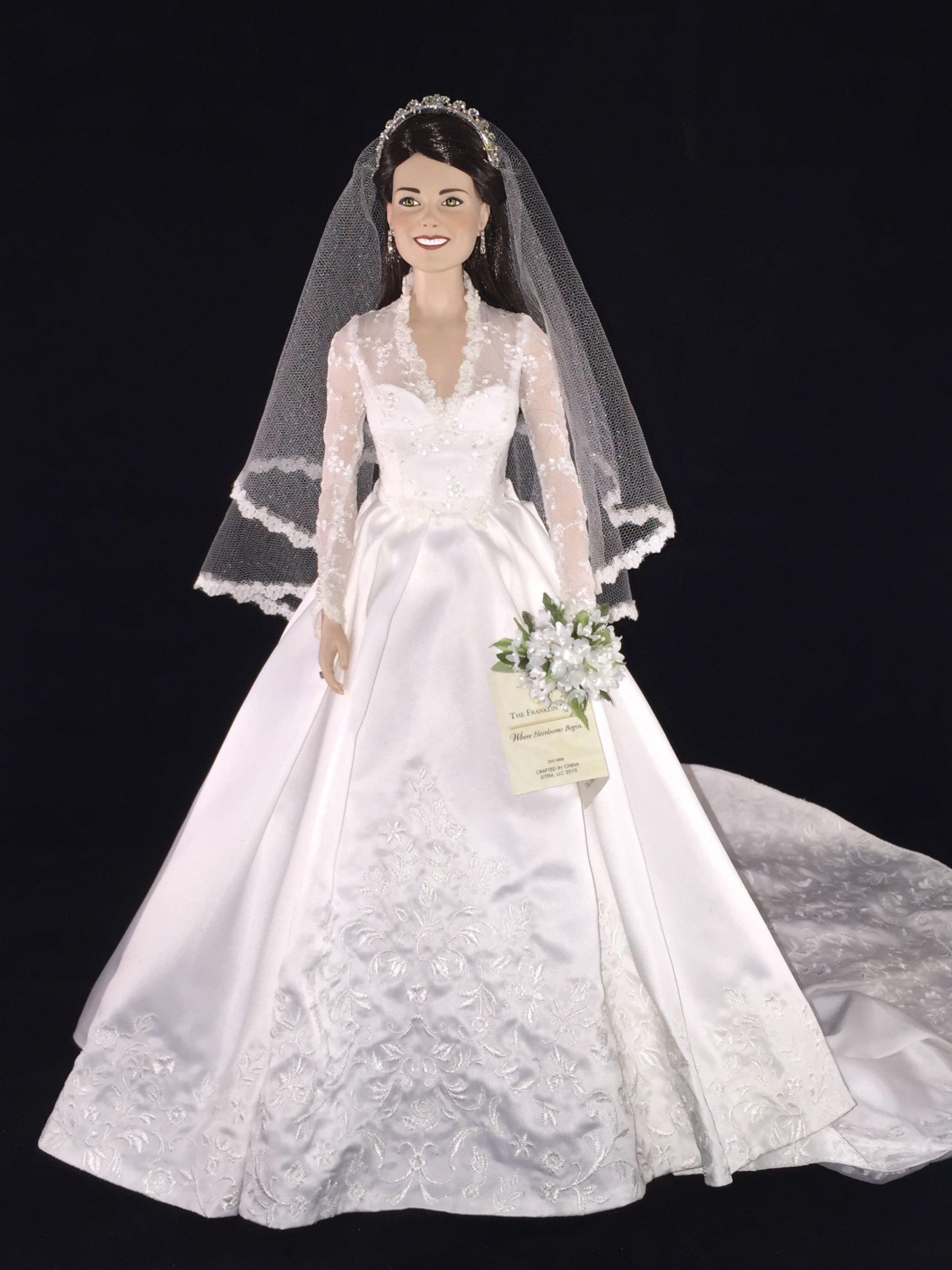 Franklin Mint Kate Middleton Bridal doll. Kate\'s dress was designed ...