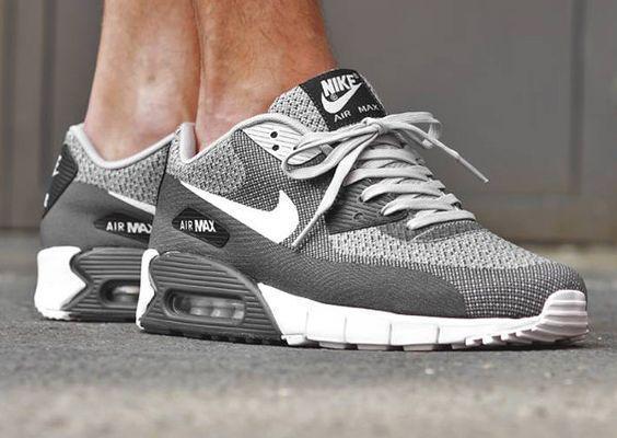 Nike Air Max 90 Jacquard Wolf Grey & Magenta by blog