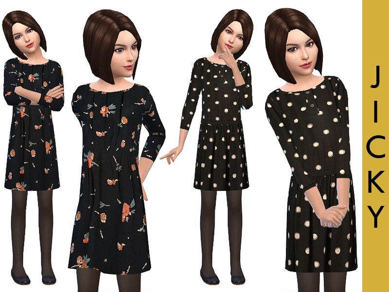 Astounding Classic Dresses For Girls Found In Tsr Category Sims 4 Female Hairstyles For Men Maxibearus