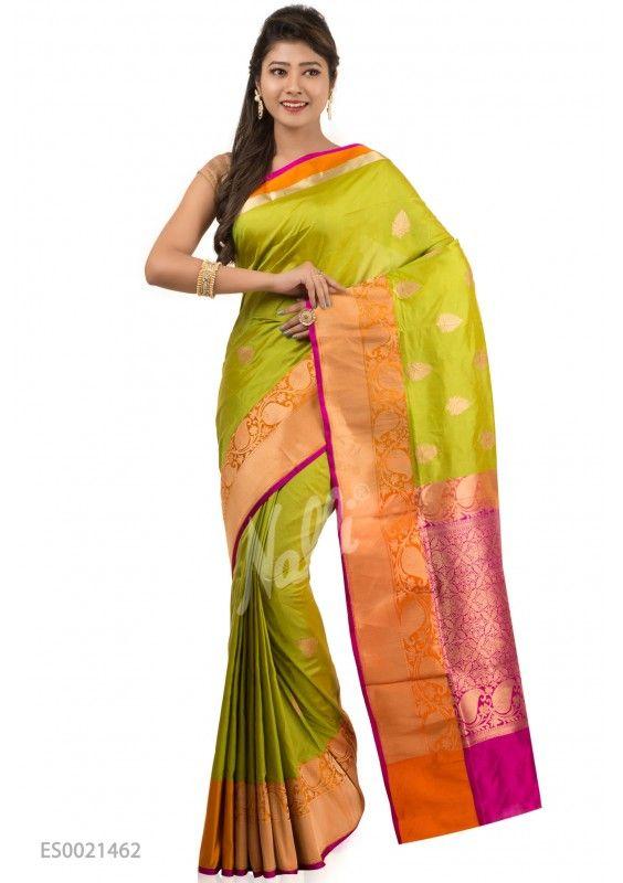 aebf8dedac Green Banaras Silk Saree. Green Banaras Silk Saree Banarasi sarees online  shopping ...