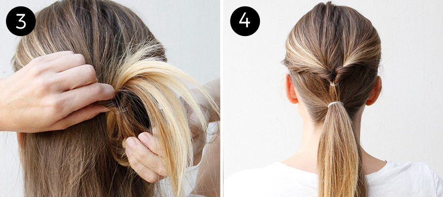 This Double Twist Ponytail Is The Perfect Five Minute Hairstyle More Twist Ponytail Easy Hairstyles Hair Styles