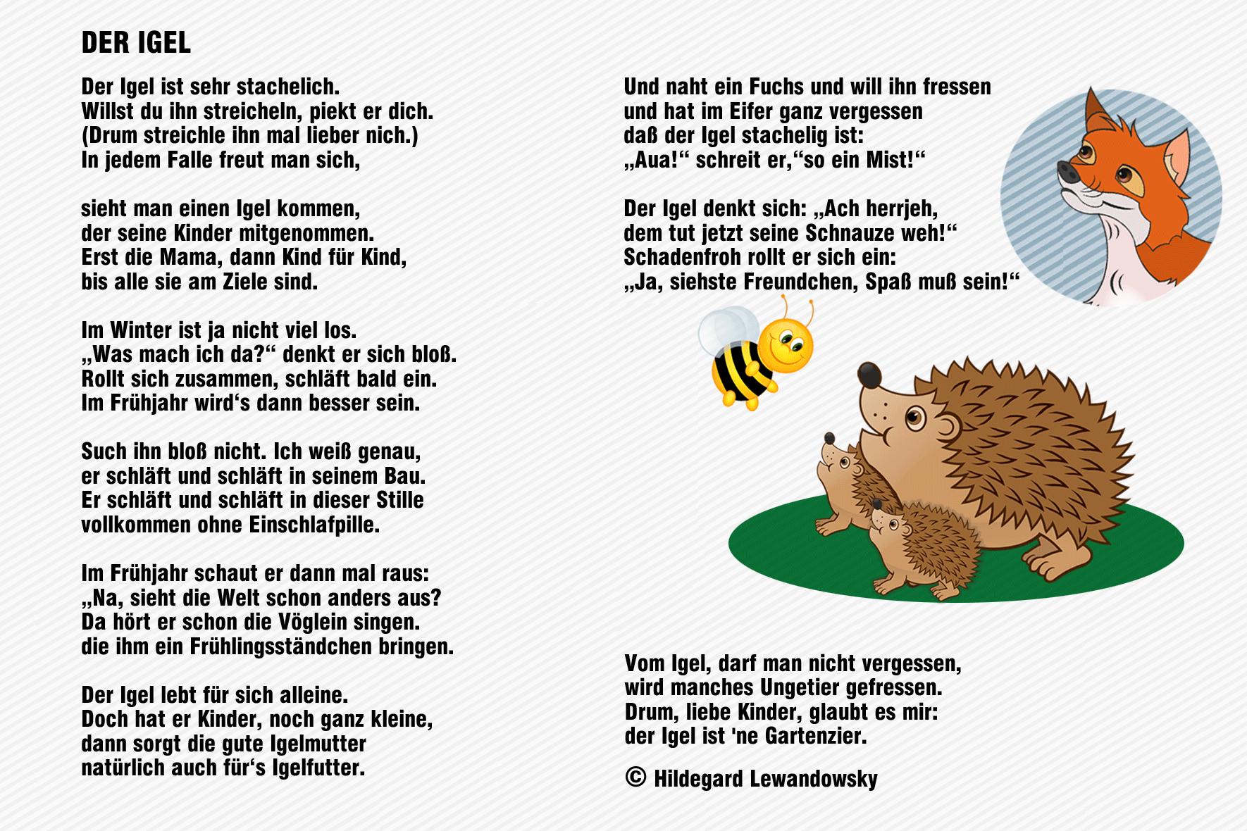 Bildergebnis für gedicht igel | herbstgedichte ...