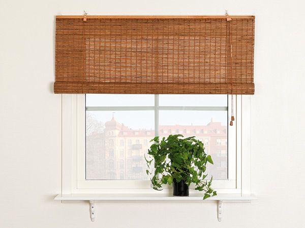Bambus Rullegardin fra Kirsch - Nye Gardiner A\/S Christel - bambus im wohnzimmer