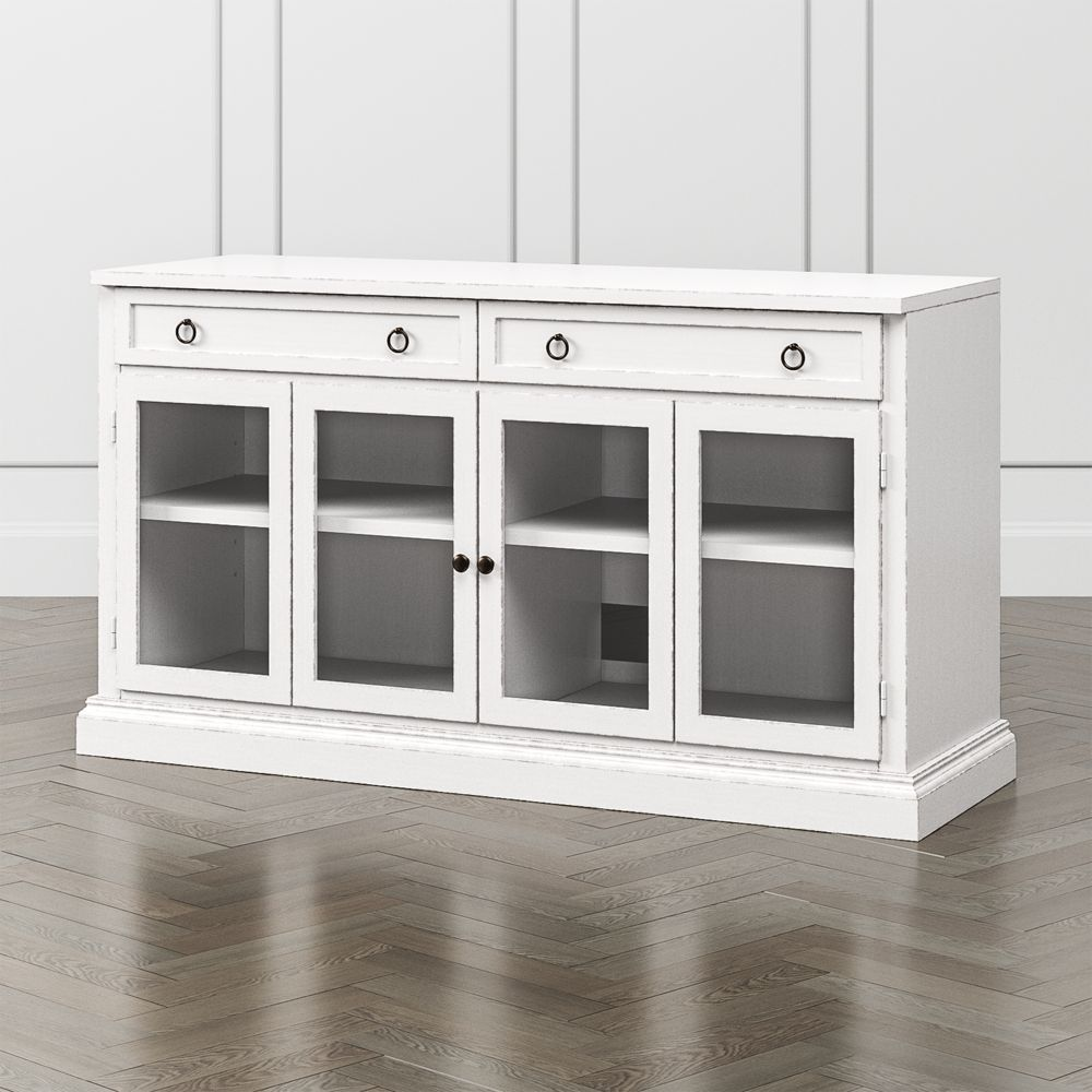 Cameo 62 dama modular media console with glass doors