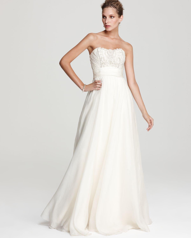 Priscilla of boston wedding dress  Theia Strapless Organza Ball Gown  bloomingdales  Kinky Montoya