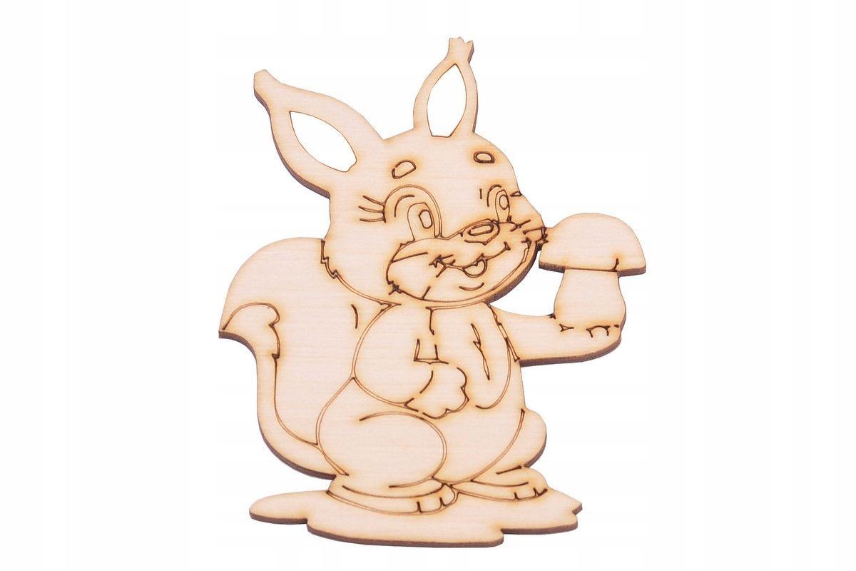 Figurki Eko Ozdoby Ze Sklejki Decoupage Wiewiorka Wooden Animals Childrens Room Decor Kids Toys