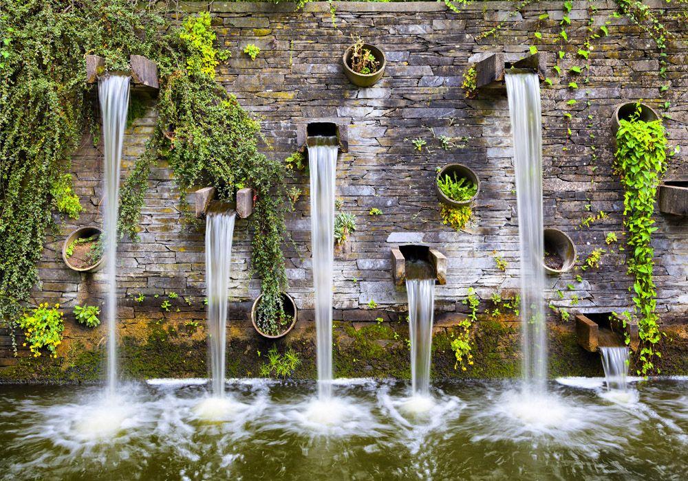 Park Als Tuin : Prachtige watervallen als tuinposter voor in uw tuin water
