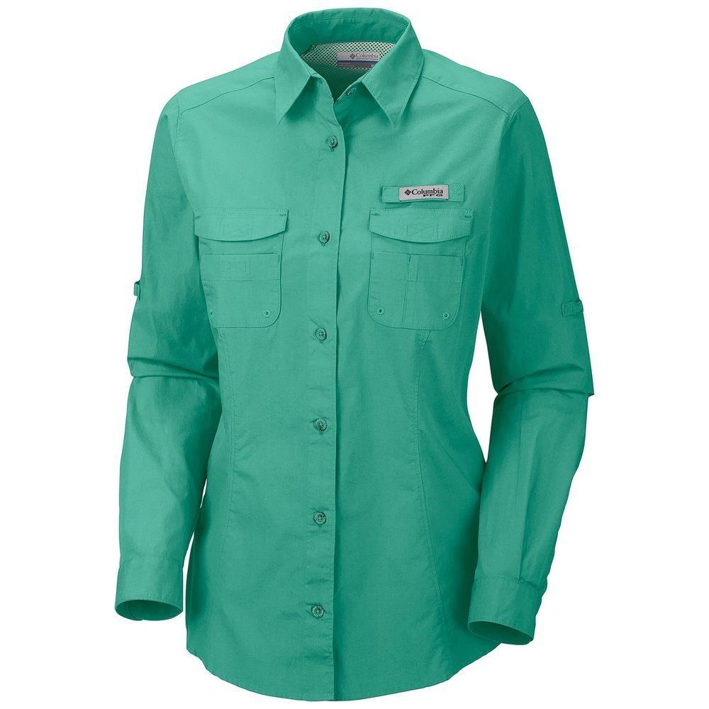 Columbia Sportswear Women's Bonehead Long Sleeve Shirt Columbia Fishing Shirt #Columbia #ButtonFrontShirt
