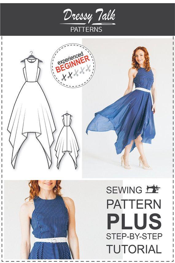 62c497dbe39f PDF Sewing Pattern for Women - Dress Sewing Pattern - Dress Sewing Tutorial