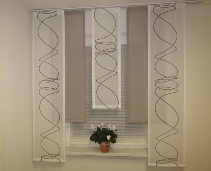Gardinen 5 Tlg Gardinenset Flachenteile Modern Ein Designerstuck Von Windowdreams Bei Dawanda Gardinen Set Gardinen Kuchengardinen