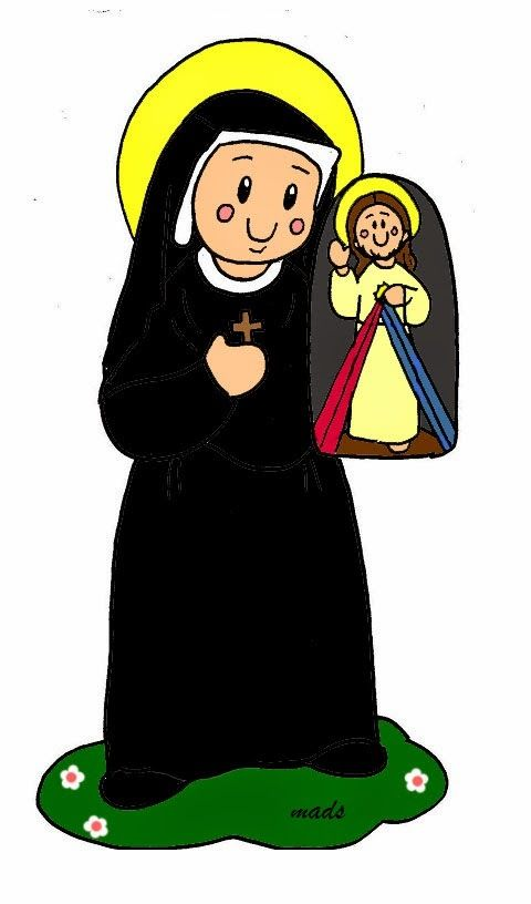 Mis Ilustraciones Santa Maria Faustina Kowalska Criancas