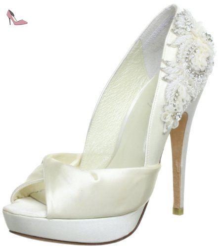 Menbur Wedding Anastasia, Escarpins Femme - Ivoire (ivory 04), 39 EU