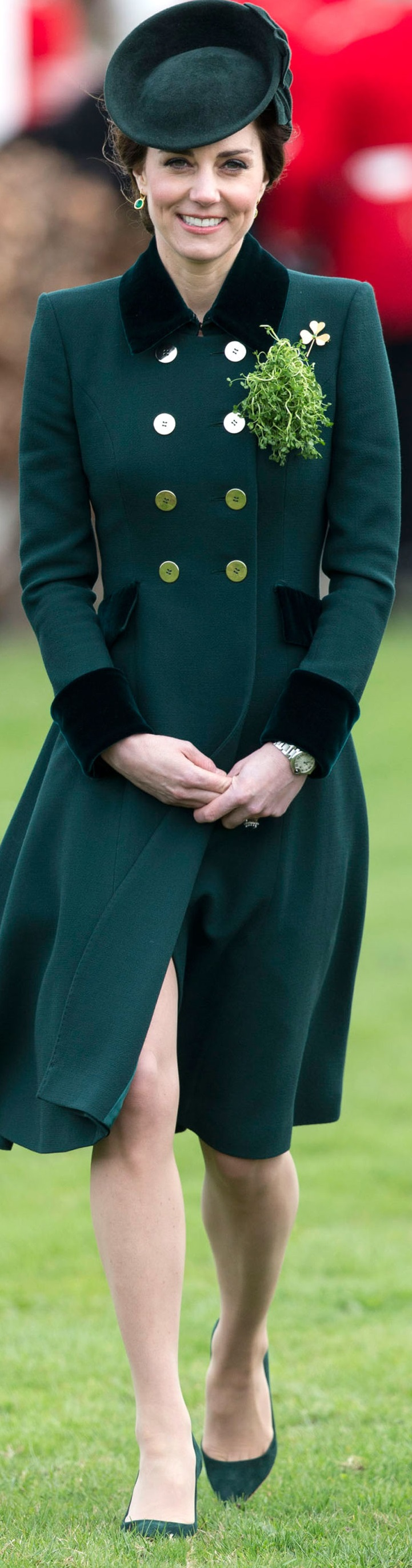 Kate Middleton In Catherine Walker – St. Patrick's Day With The Irish Guards In London
