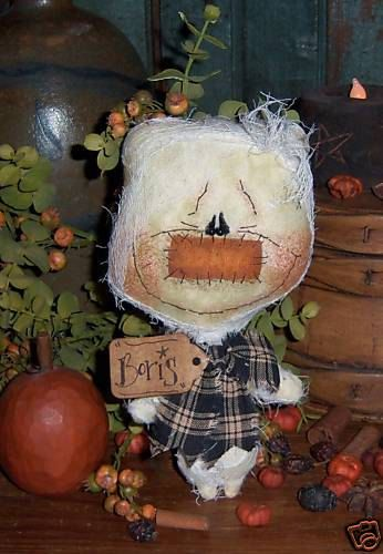 Patti/'s Ratties Primitive Ghost Boo Halloween Ornie Doll Paper Pattern #501