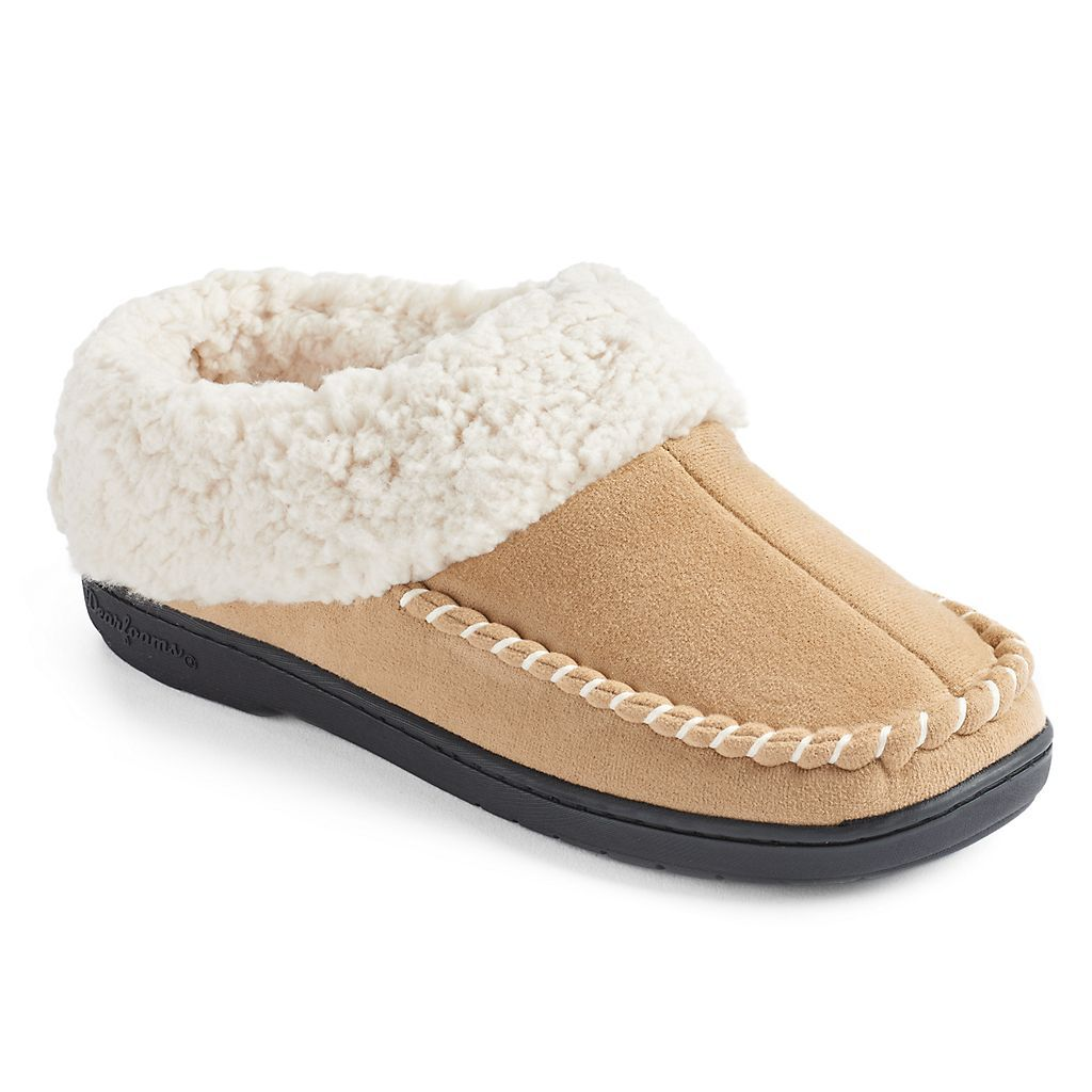 Solid Knit Moccasin Slippers
