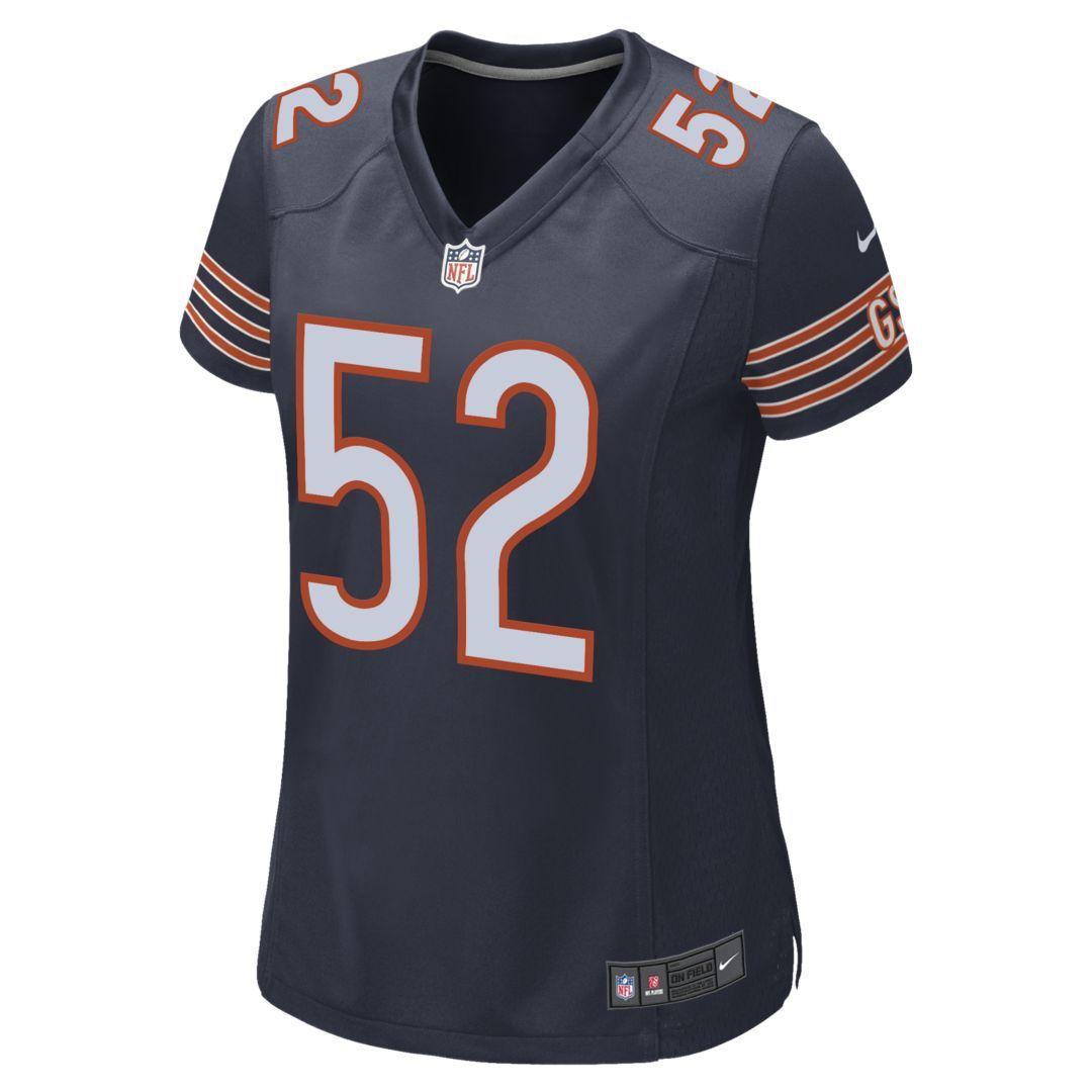 online store 839f3 9b6ba NFL Chicago Bears (Khalil Mack) Women's Football Game Jersey ...