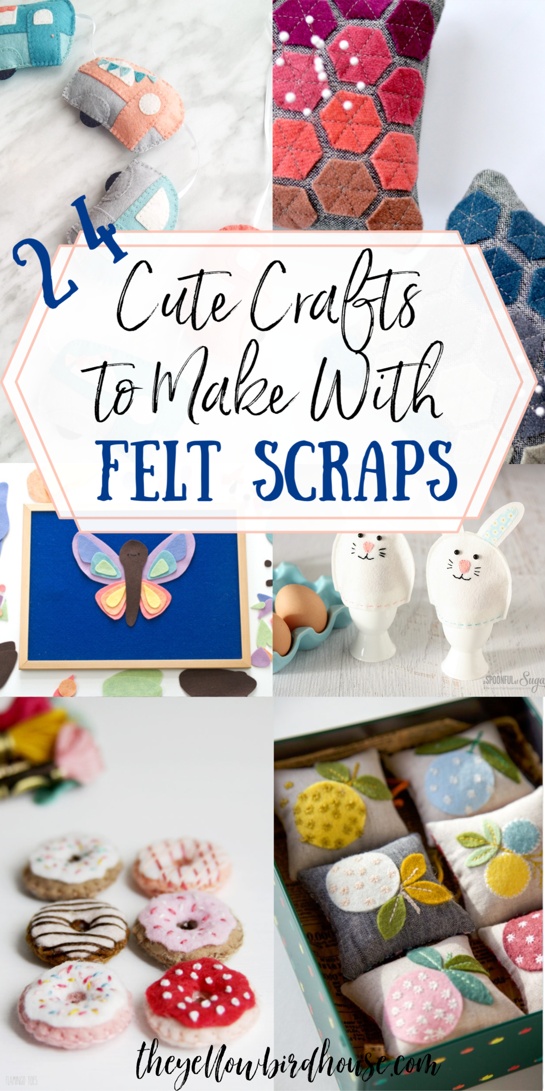 24+ Cute Crafts to Make with Felt Scraps | The Yellow Birdhouse -   23 fabric crafts for kids to make ideas