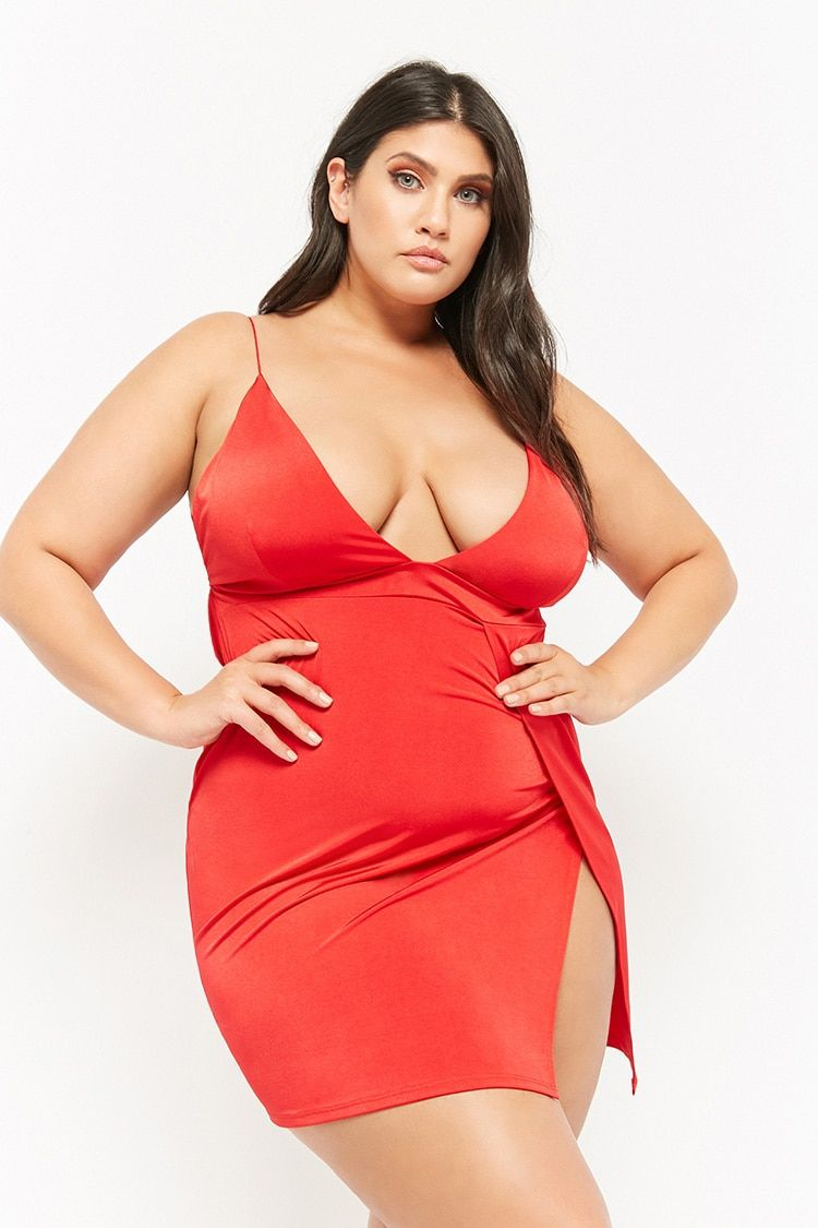 cba480df9c Product Name:Plus Size Plunging Mini Dress, Category:CLEARANCE_ZERO,  Price:28