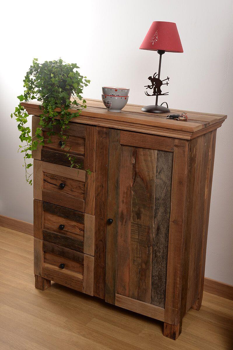 Notre Collection En Bois Recycle Infinity Est Le Must Have Des Eco Responsable Amoureux Du Style Alpin Meuble Bois Recycle Meuble Bois Massif Bois Recycle