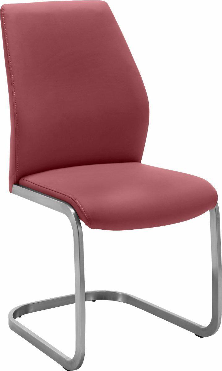 NIEHOFF SITZMÖBEL freischwingender Stuhl rot, rubin, pflegeleichtes ...