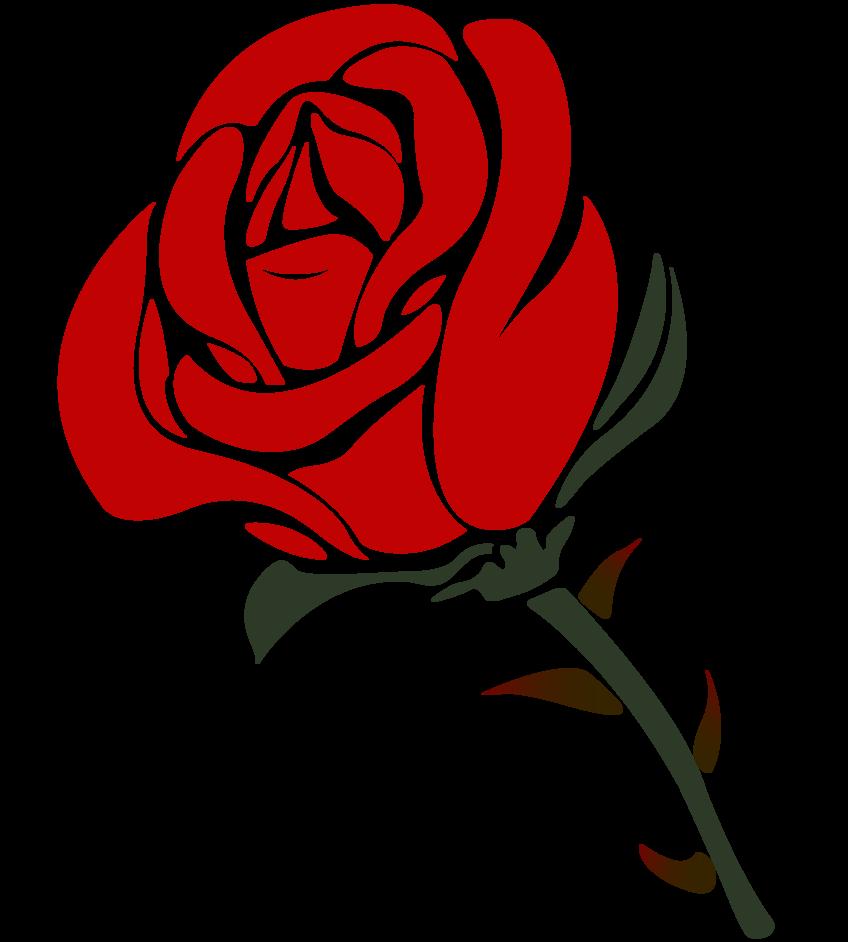 Rose Png Cartoon Rose Roses Drawing Red Rose Png