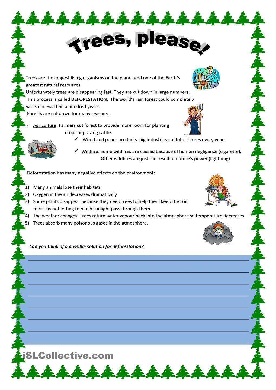Deforestation Kindergarten Worksheets Worksheets For Kids Fun Worksheets For Kids [ 1440 x 1018 Pixel ]