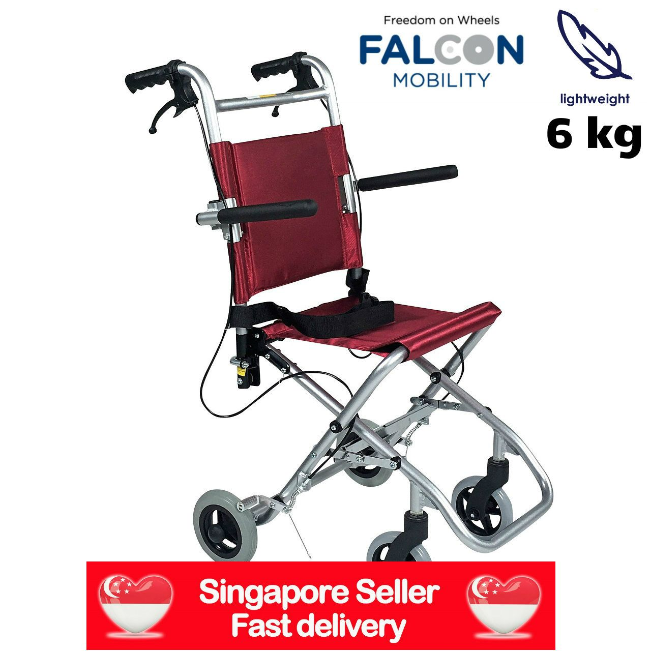Lightweight aluminium wheelchairs for as low as 49.75